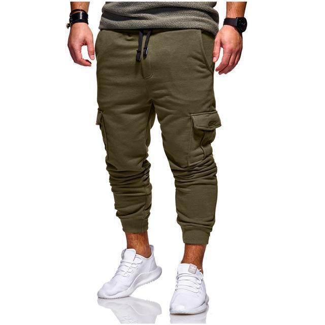 5a7fbaa745c 2019 Pop Nice Men Cargo Pants Fashion Tactical Joggers Fitness Workout  Pockets Sweatpants Plus Size Casual Hip Hop Male Trousers From Losangelesd