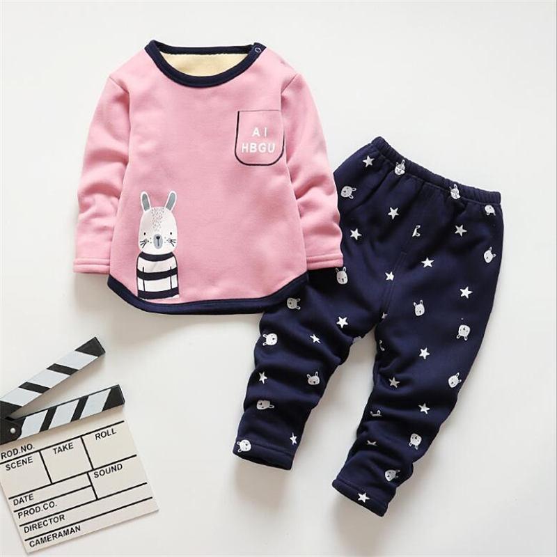 bd49f818b866 BibiCola 2018 Girls Pajamas Set Autumn Winter New Children Cotton ...
