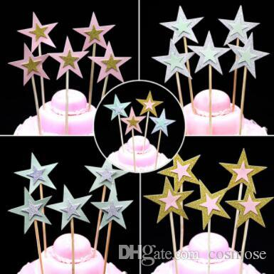 2019 Lovely Birthday Cake Topper Double Layer Star Decoration Baby Shower Kids Party Wedding Supplies From Cosmose 3518