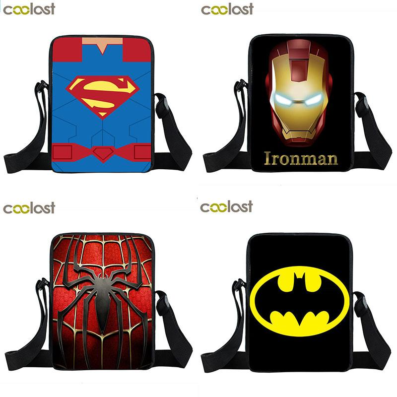ae7a0ed41e Crossbody Bag For Men Boys Kids Superhero Comics Logo Children School Bags  Bookbag Mini Messenger Bags Fashion Bags Leather Bags For Women From  Standbyside