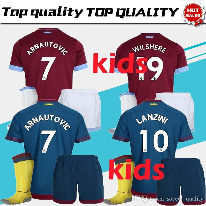 2018 Kids Suit 2018 2019 West Ham United Home Soccer Jersey 18 19  CHICHARITO Football Jerseys CARROLL Mario Arnautovic Child Shirt BOYS Lucas  From ... 682be56ba