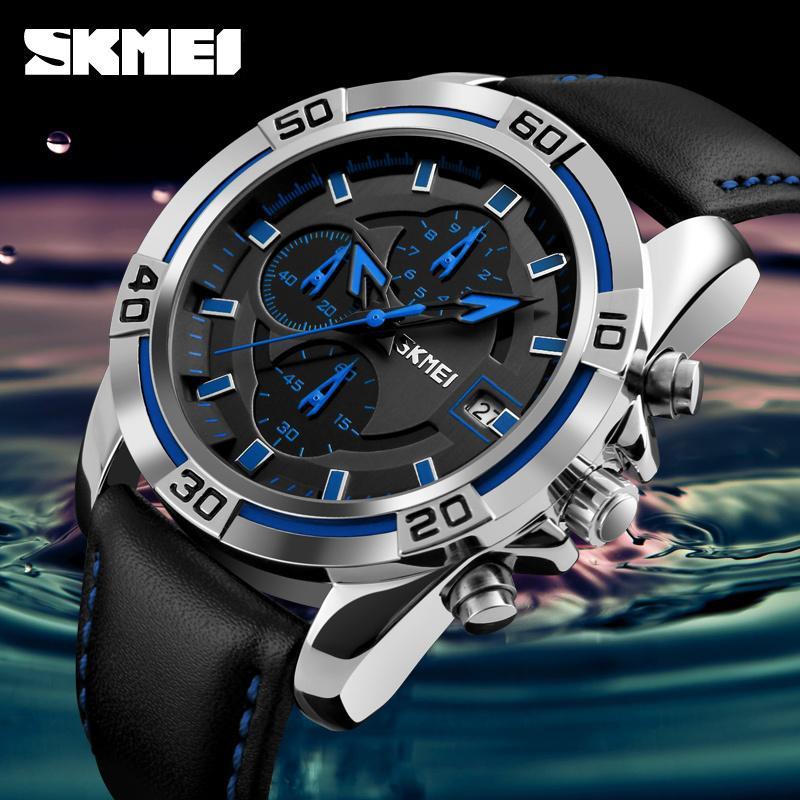 50ac2c9d68a5 Compre SKMEI Moda De Cuarzo Relojes De Los Hombres De Primeras Marcas De  Lujo Famoso Reloj Correa De Cuero Relojes Impermeable Relogio Masculino De  Luxo ...