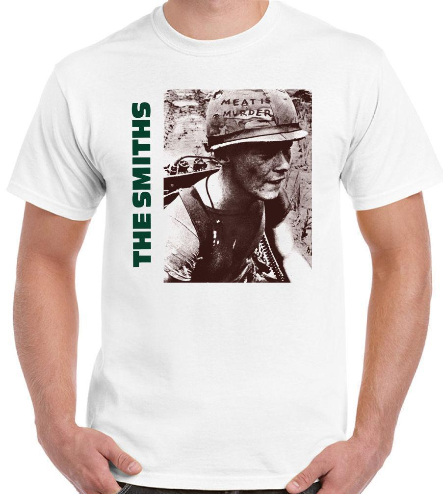4109bbe2089259 Mens Designer T Shirts Shirt The Smiths Meat Is Murder Mens Music T Shirt  Shirts With Designs R Shirt From Wear3