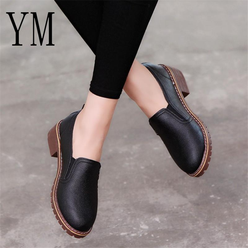 850605be 2019 Dress 2018 New Style Spring Autumn Women Shoes Round Toe Oxford Shoes  Woman PU Women Bullock Shoes Moccasins For Men Suede Shoes From Deals44, ...