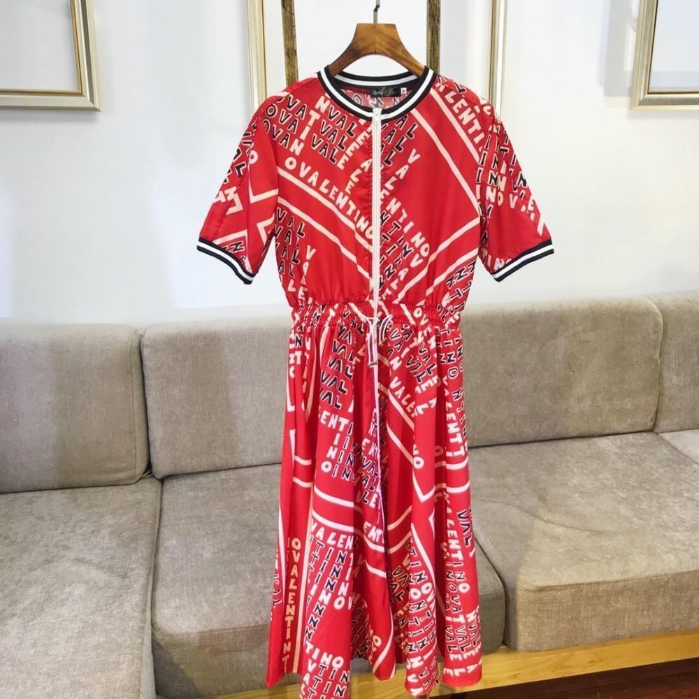 Neue Damen Kleid Strickjacke Reißverschluss Mode lässig Trend muss blau wilde Modelle rot