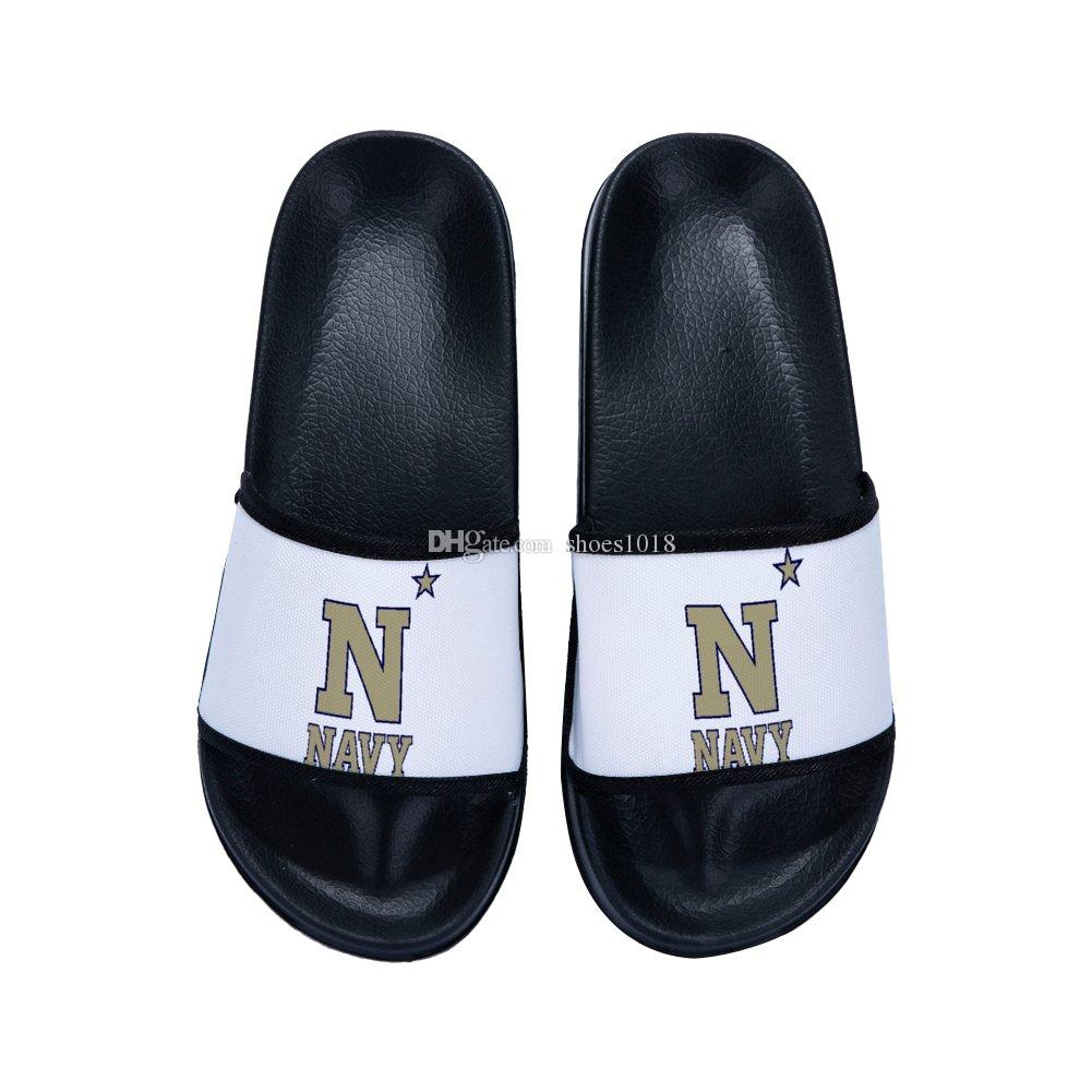 PL Navy Midshipmen Custom Unisex women/men summer Indoor Beach comfortable slippers