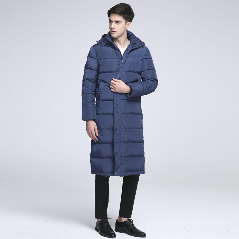 373f7dd4b27 Luxury 2018 New Men's Winter Jacket Casual Long Style 90% White Duck ...