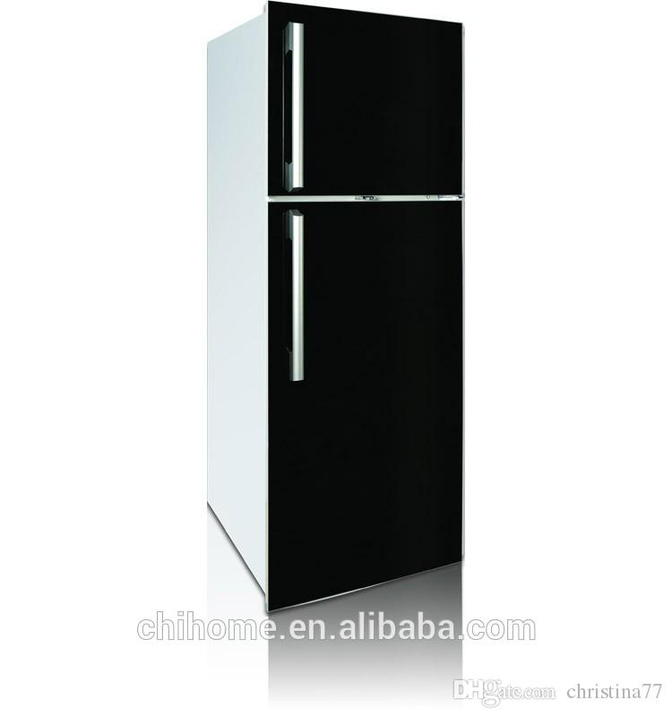 glass door refrigerator 350L outside evaporator with glass door handle optional