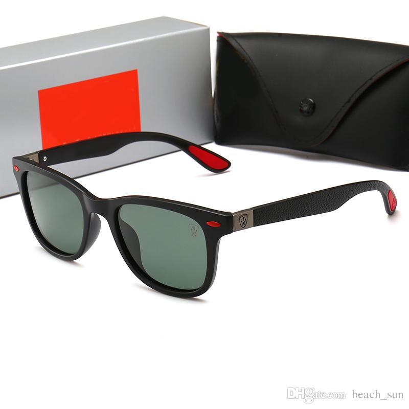 En liquidation chaussures élégantes en ligne ici RayBan Ferrari4195 Hot top qualité hommes femmes marque designer lunettes  de soleil millionnaire preuve lunettes de soleil rétro vintage brillant été  ...