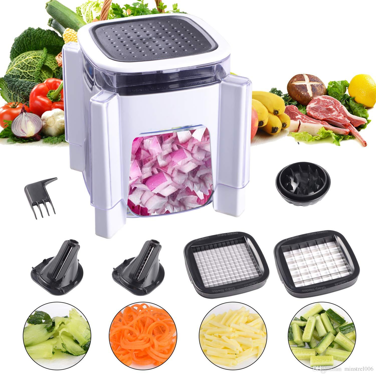 vegetable chopper Fun Life onion chopper with a spiral slicer  The food  chopper Plus unique design of the spiral slicer perfect protects the