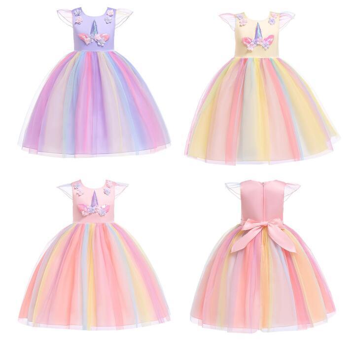 0224e3a5e061 2019 Flower Girl Unicorn Dress For Kid Party Tutu Birthday Princess Cosplay  Costume Unicorn Princess Dress BY0801 From Good_shenz, $17.5 | DHgate.Com
