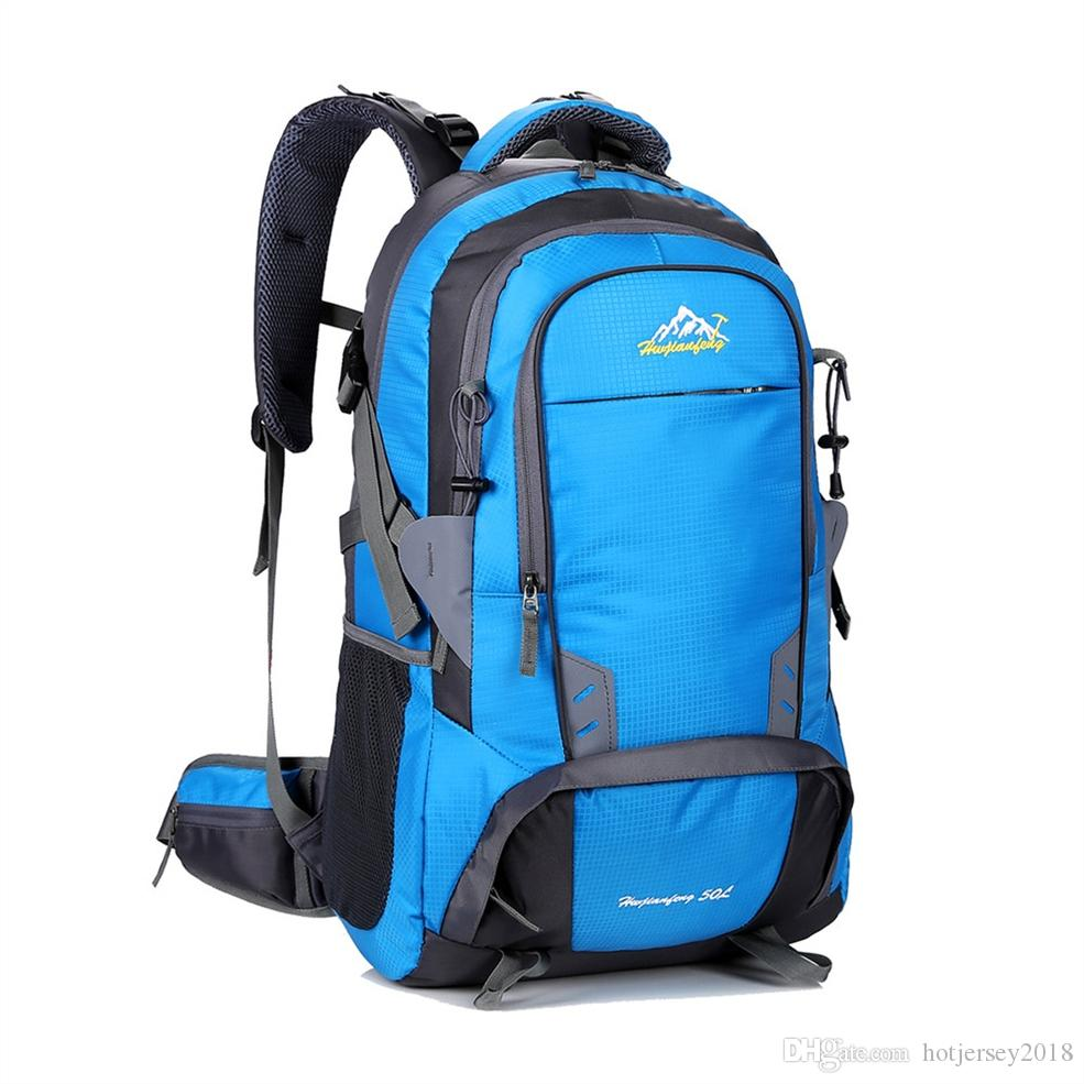 2019 50L Waterproof Outdoor Backpack Sport Bag Travel Laptop Daypack Camping  Cycling Hiking Backpack Climbing Rucksack For Men Women  158949 From ... 8cc8ca8b4c