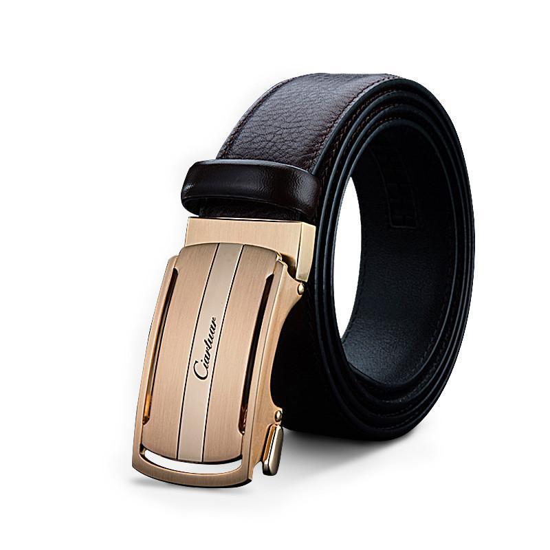 Compre Negro Y Marrón Hebilla De Cinturón Para Hombres 2019 Caliente Marca  De Moda Correa De Cuero Genuino Hebillas Automáticas Para Hombre Cinturones  A ... 5d6251bad9fb