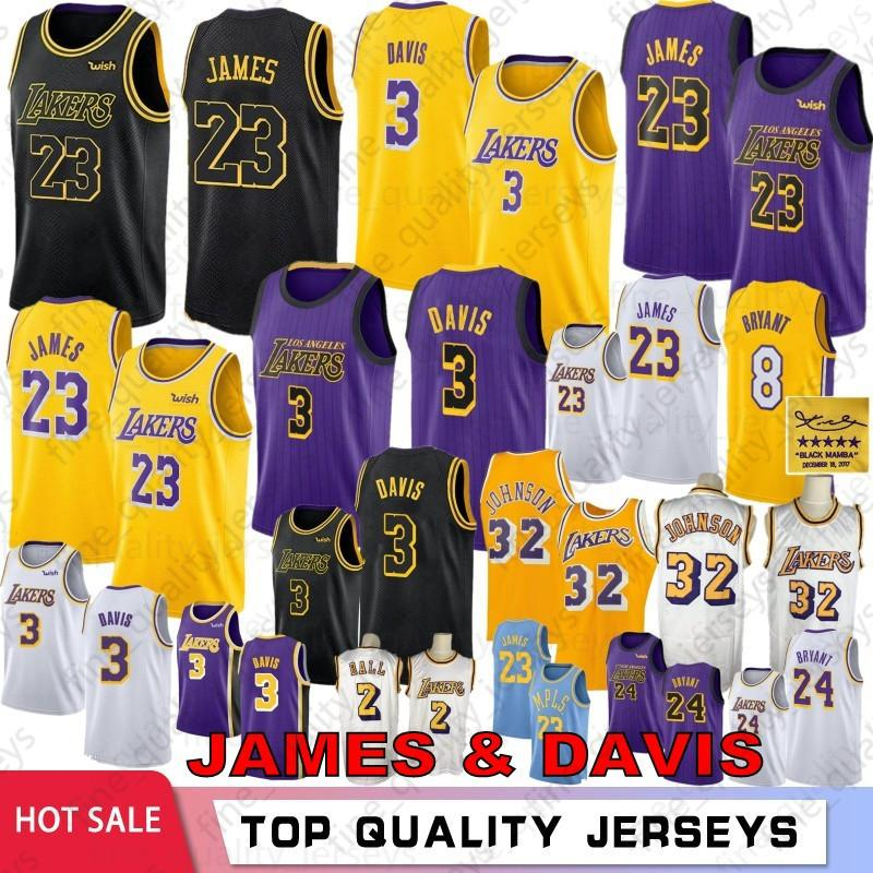 NCAA LeBron 23 James Anthony 3 Camisetas de baloncesto de la Universidad de Davis 24 Kobe 8 Bryant 32 Johnson Kyle 0 Kuzma 14 Ingram Hombres Jóvenes Calientes