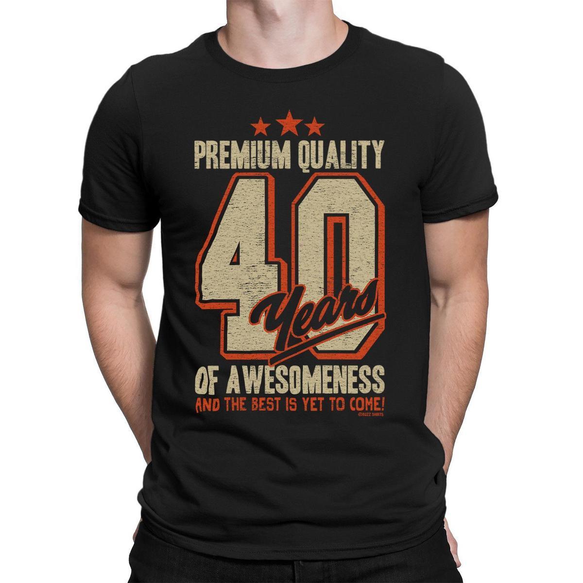 Acheter T Shirt Anniversaire Pour Homme 40 Ans De Cadeau Awesomeness