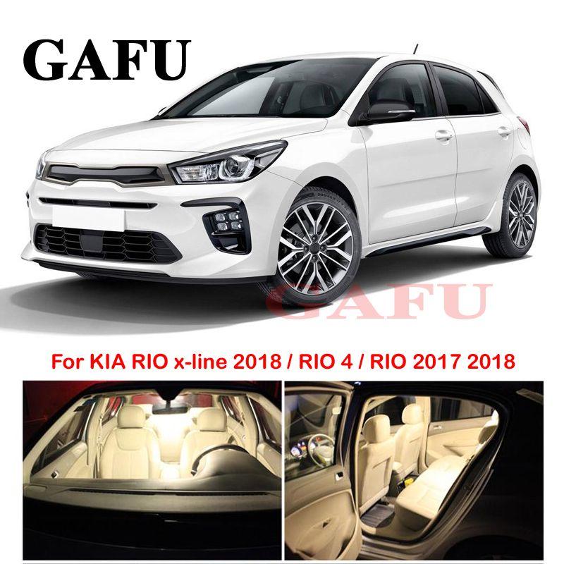 2019 For Kia Rio 2017 2018 Interior Car Led Bulbs Lamp Interior Dome