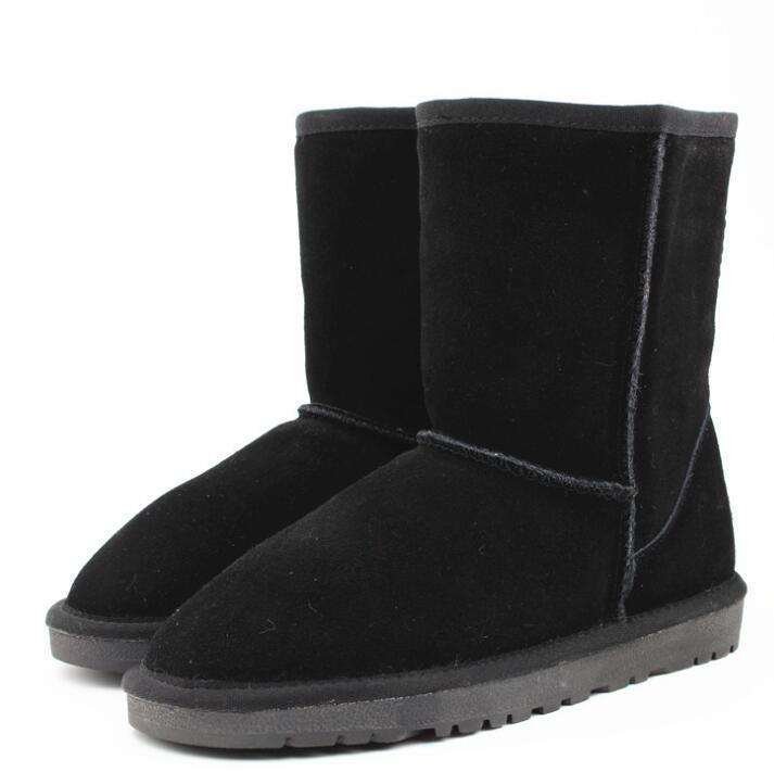 58f047ee73f Compre Estilo De Invierno De Australia Verdadero Genuino De Cuero De Vaca  Mujer Botas Peludas De Invierno Botas De Nieve Zapatos Cálidos Zapatos De  Mujer De ...