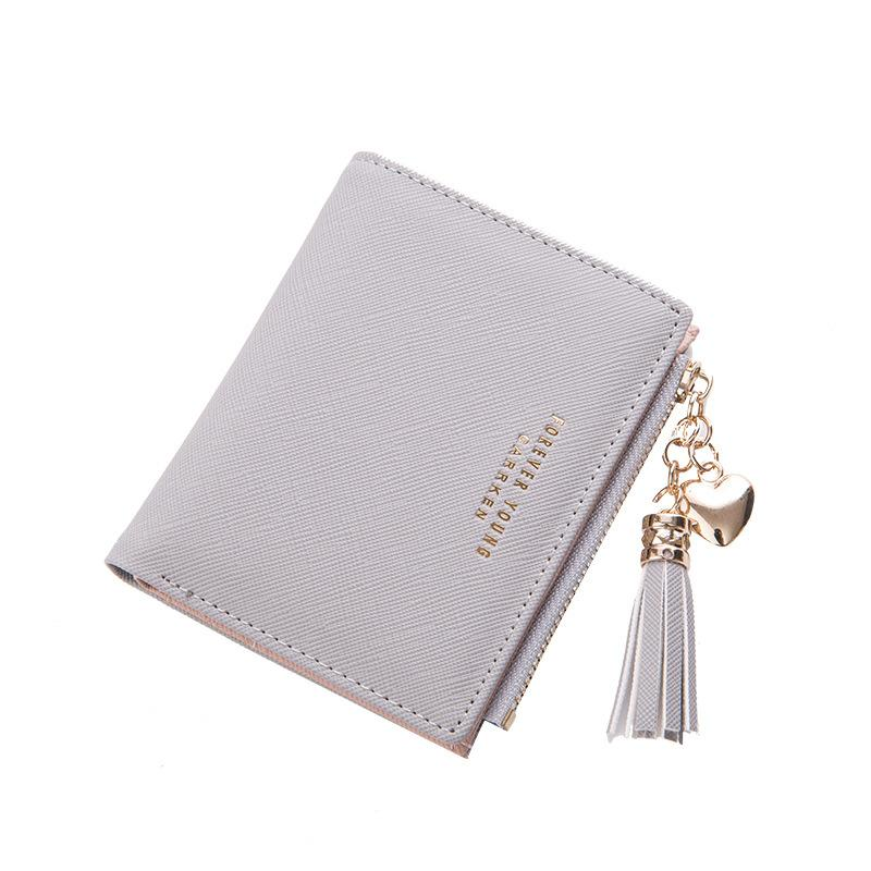 ce27e8811226 Tassel Women Wallets Small Leather Wallets Female for Coins Cute Wallet  Women Coins Zipper Purses Portefeuille Female Clutch Bag