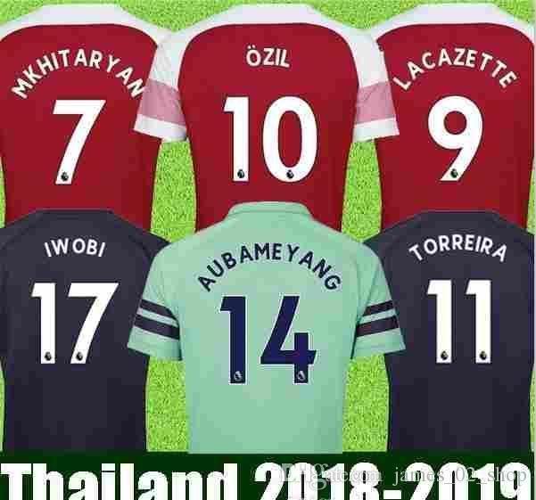 127c1d97b 2019 18 19 Men Thailand United States Arsenales Jersey 2019 America  Aubameyangmkhitaryan 10ozil 18 19 Football Kit Top Soccer Shirts From  James 01 shop