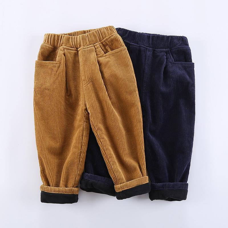 83a6f09385754 hot fashion Thichen Winter Warm Baby Pants For Boys Girls Corduroy Kids  Trousers Loose Plus Velvet Children Outwear Pant