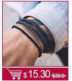 Mcllroy charm bracelet para mujeres pareja 3 unid 4 mm cuentas de camuflaje cuerda CZ circón pulseras brazaletes pulseras mujer 2018
