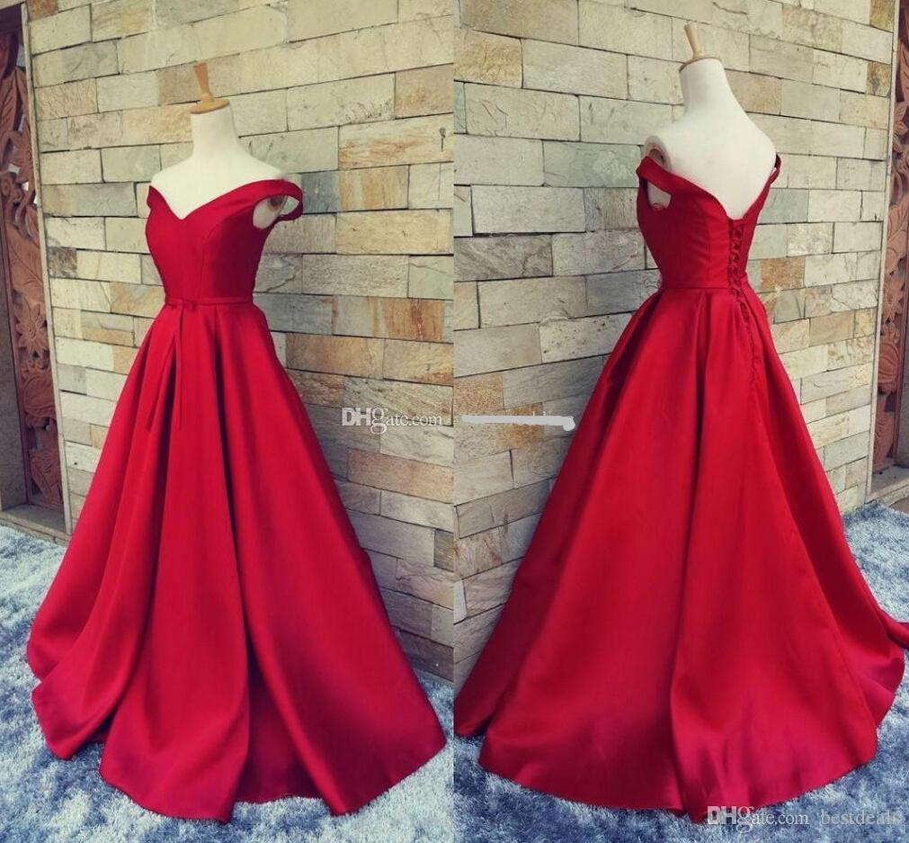 9c012fcb04d 2019 Simple Dark Red Prom Dresses Long Formal Pageant Gowns With Belt Sexy  V Neck Open Back Vintage Party Evening Gowns BA1610 Evening Dress Pattern  Evening ...