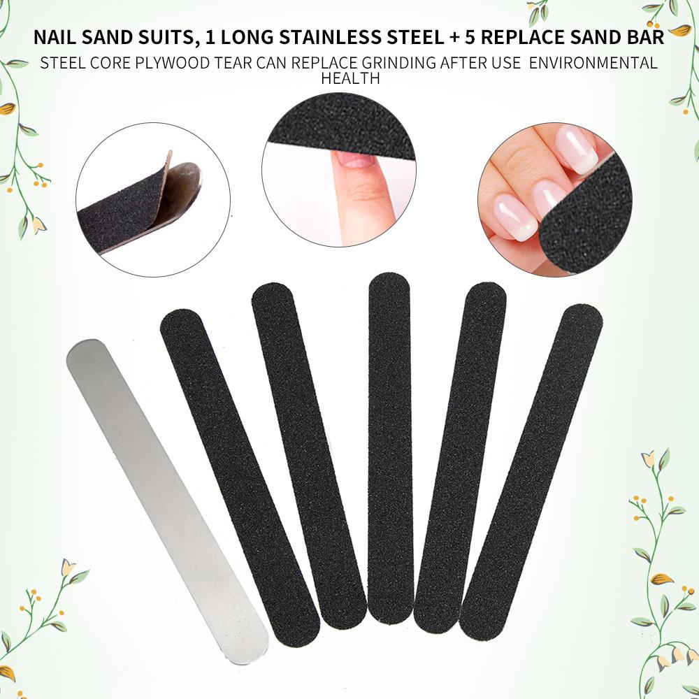 Nail Art Sanding Files Set Metal Nail File With 5 Sanding Disposable ...