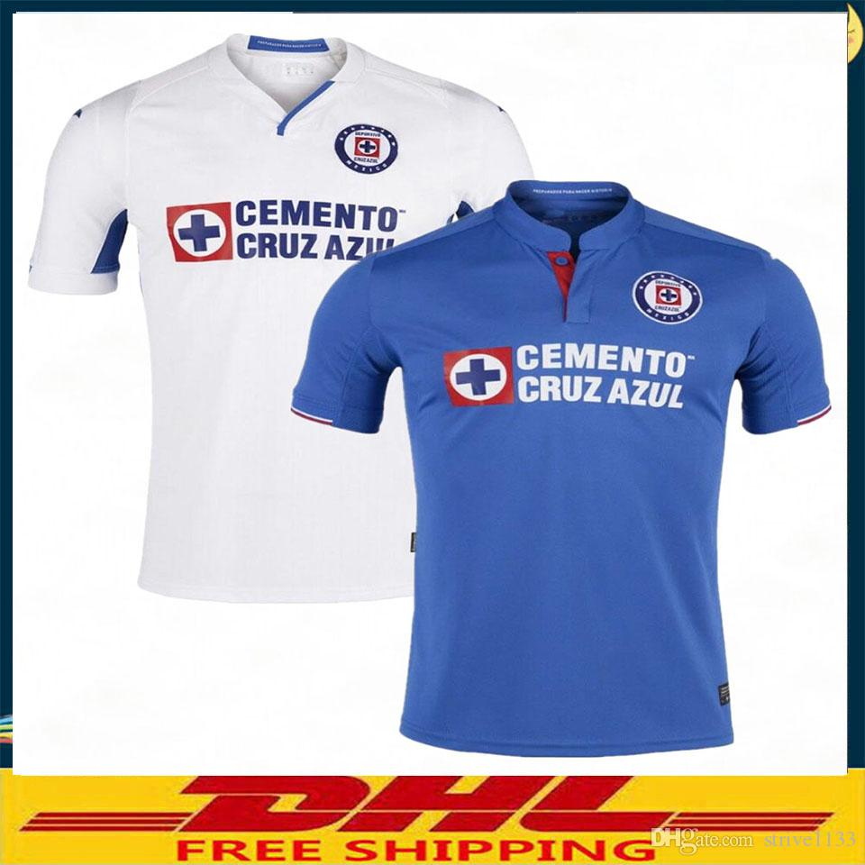 d8e61d4bdde 2019 DHL 2019 2020 Mexico Club Liga MX CDSC Cruz Azul Soccer Jersey Home  Blue Away White Football Shirt From Strive1133