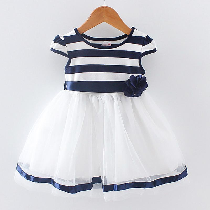 49e11ef0d446 2019 Newborn Girl Summer Dress New Princess Child Girls Dresses Sleeveless  Infant Cotton Striped Clothing From Etamkend, $10.06 | DHgate.Com