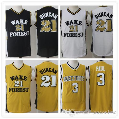 sports shoes bbb60 b64c0 2019 Wake Forest Demon Deacons College Basketball Jerseys Tim Duncan Chris  Paul Shirts NCAA University Stitched Jersey S-XXL