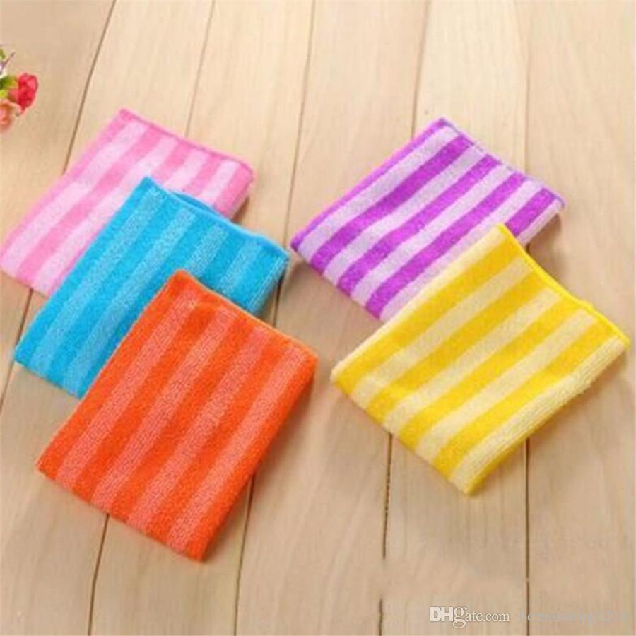 High Efficient Anti-grease Color Dish Cloth Fiber Washing Towel Magic Kitchen Cleaning Wiping Rags 2279c