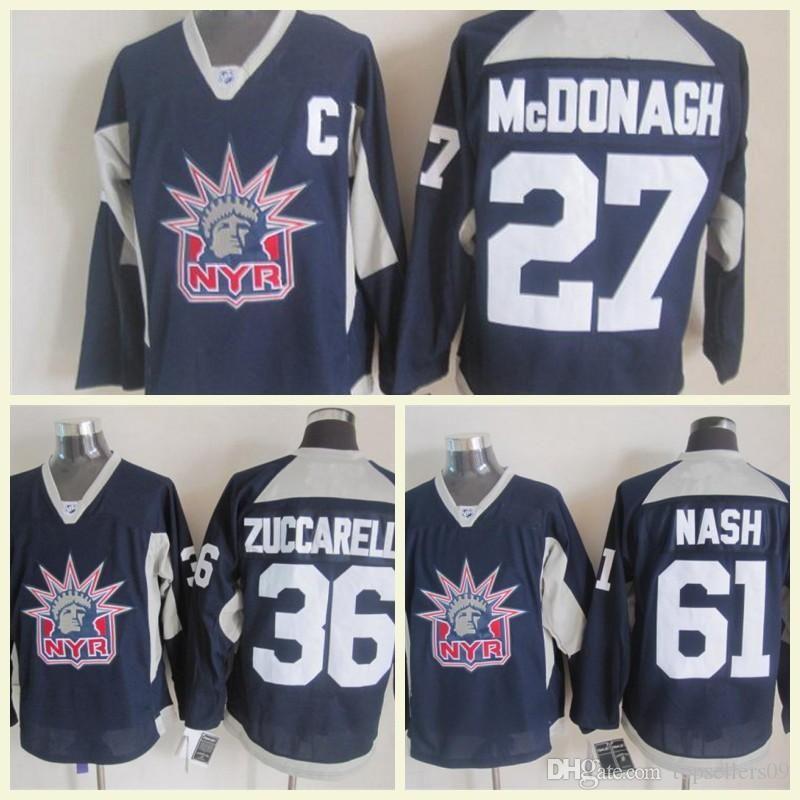 New York Rangers Jerseys 36 Mats Zuccarello 61 Rick Nash Ice 27 Ryan ... ecc892c74