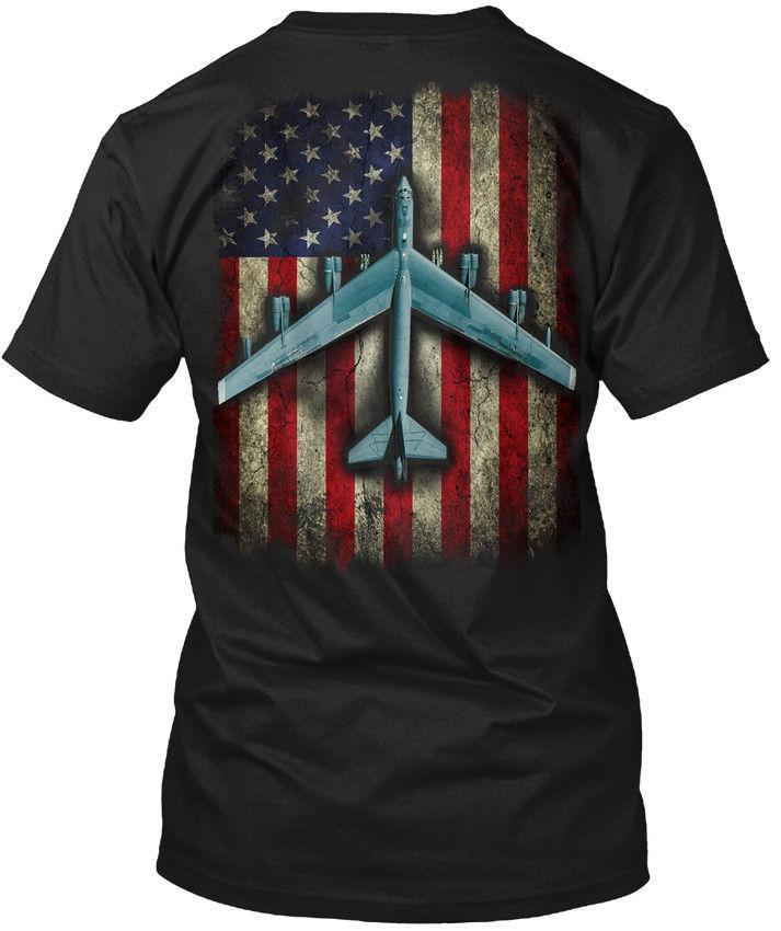 Fashionable B-52 With Flag Hanes Tagless Tee T-Shirt Hanes Tagless Tee T-Shirt