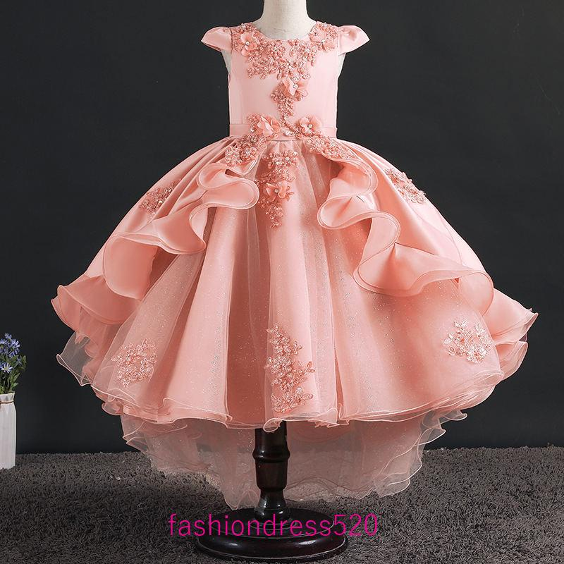 New Baby Infant Girls Polka Dot Dress Pageant Wedding Christmas Party Fancy 247