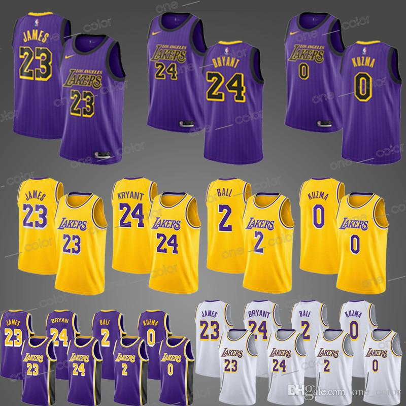 c64d21050 18 19 NEW MEN 23 LeBron James 2 Lonzo Ball 0 Kyle Kuzma 24 Kobe ...