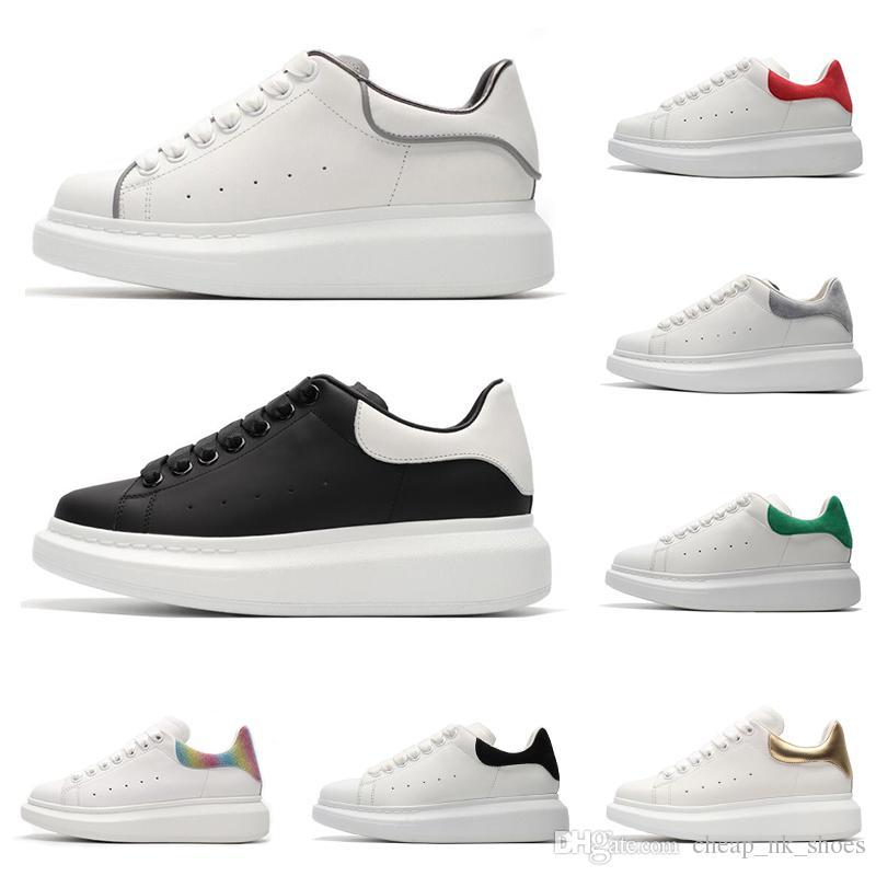 5453c5f7a8f50 Compre Alexander McQueen Diseñador De Marcas De Lujo De Cuero Negro Blanco