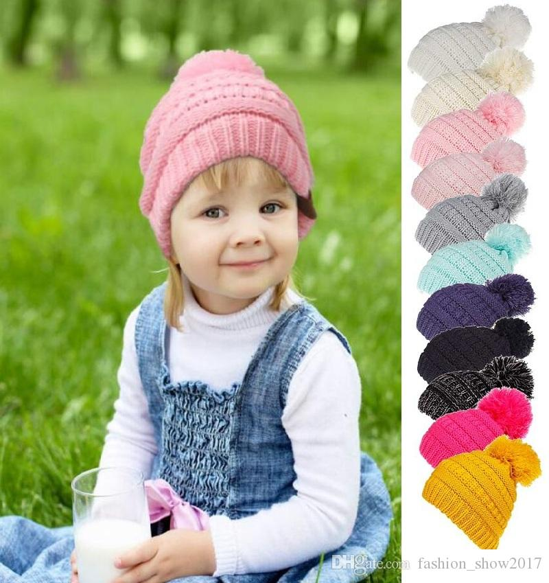 d62545651 Soft Baby Hat Autumn Winter Boys Girls Warm Hats Cap Newborn Infant Candy  colour knitted Hat Beanies Cotton Kids Accessories