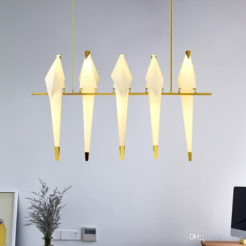 Post-modern Led Chandelier Wooden Bedroom Suspended Lighting Loft Novelty Fixtures Nordic Luminaires Living Room Hanging Lights Ceiling Lights & Fans Chandeliers