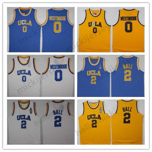 fc3a9cc8e03 2019 UCLA Bruins Jersey College Basketball Russell Westbrook Lonzo Ball  Zach LaVine Kareem Abdul Jabbar Reggie Miller Bill Walton Kevin Love Blue  From ...