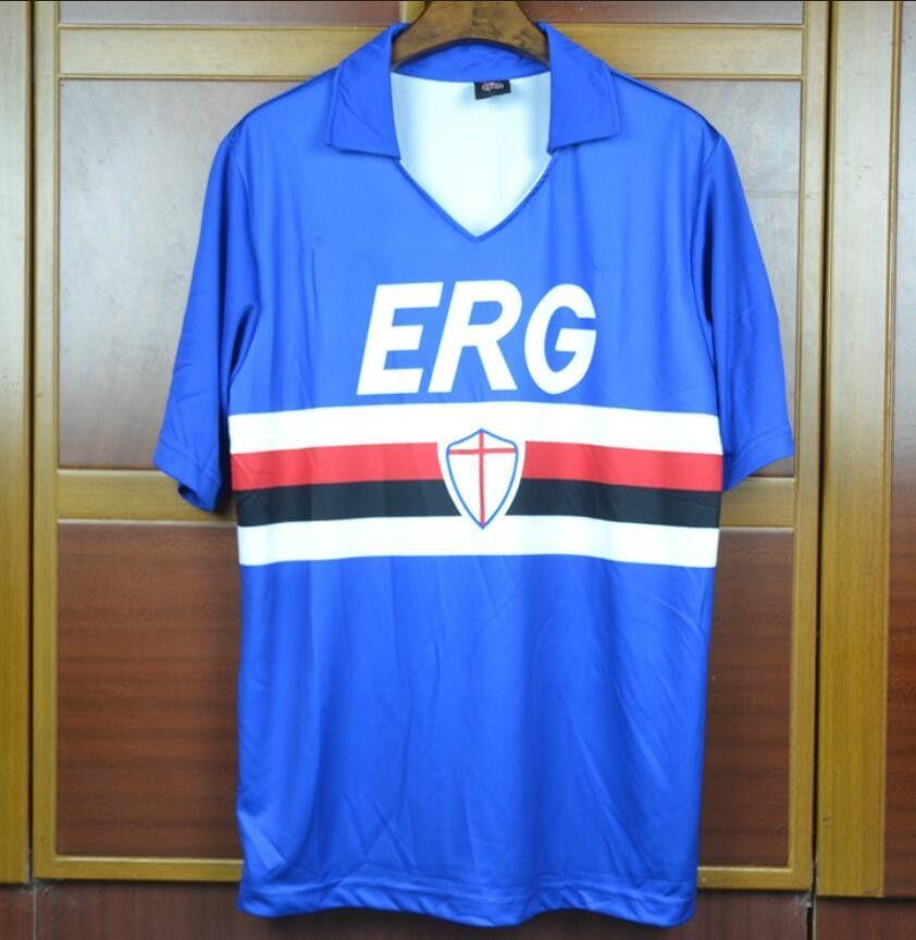 2019 90 91 Sampdoria Mancini Retro Soccer Jerseys Vintage 1990 1991 ... 72c25a1af