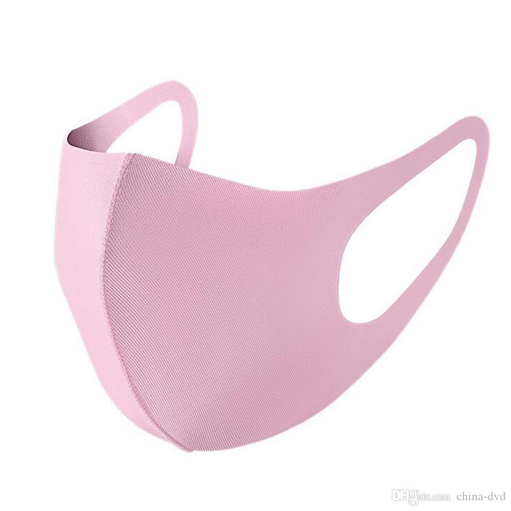 Stokta Yeni Ağız buz Maskesi Anti Toz Yüz Kapak PM2.5 Respiratörü toz geçirmez anti-bakteriyel Yıkanabilir Yeniden kullanılabilir Buz İpek Pamuk Maskeler Araçları