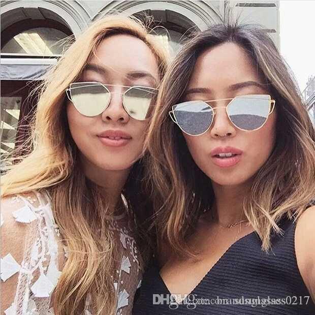 c2eb4e14e74dbc New Fashion Pink Cat Eye Sunglasses Women Classic Brand Designer ...