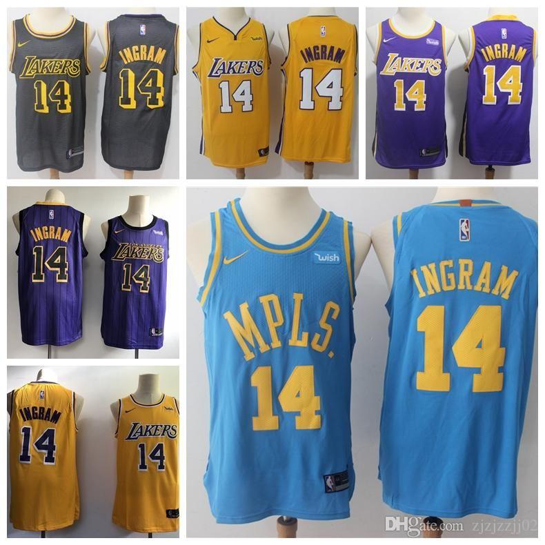 100% authentic afd08 c593c 2019 23 LeBron James Laker Jersey The City Los Angeles Kobe 24 Bryant 8  Lonzo 0 Kuzma 14 Ingram Basketball Jersey NEW
