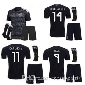 aae50b9e7 2019 Adult Kit 2019 Gold Cup Mexico Soccer Jersey 19 20 CHICHARITO H.  LOZANO MEN Football Jerseys Set Shirts From Messisport01