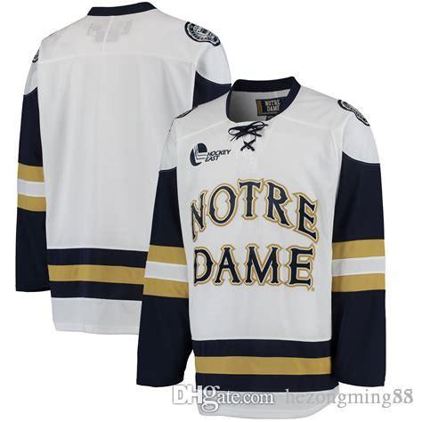 ae62fd0a0e2 Großhandel Notre Dame Fighting Irish College Herren RETRO Eishockeytrikot Stickerei  Genäht Passen Sie Jede Zahl Und Jeden Namen An Von Hezongming55, ...
