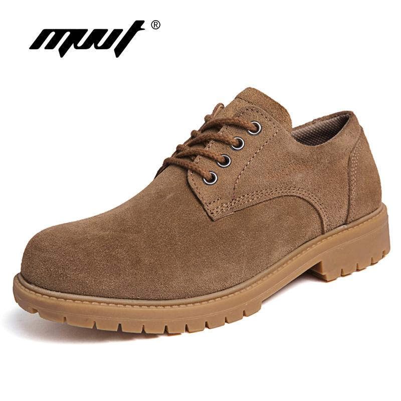 ec6fbab2b45 Compre Mvvt Plus Size Botas De Cuero Genuino Para Hombres Botas De Trabajo  Con Tobillo Clásico Hombre Nobuck Botas De Nieve De Invierno Para Hombre  Zapatos ...