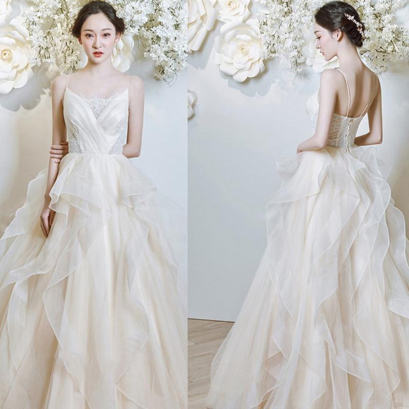 compre vestido de novia de ilusión 2019 longitud del piso vestido de