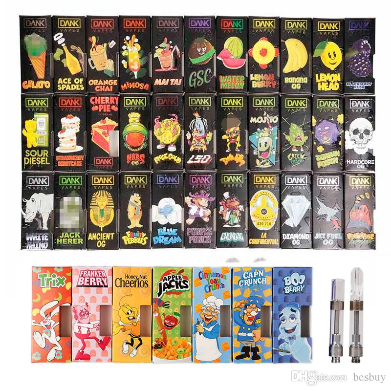 Cereal Carts Dank Vapes G5 Cartridge 1 0ml 1 Gram Ceramic Coil Tank Vape  Vaporizer 510 Thread Thick Oil Atomizer 48 Flavor