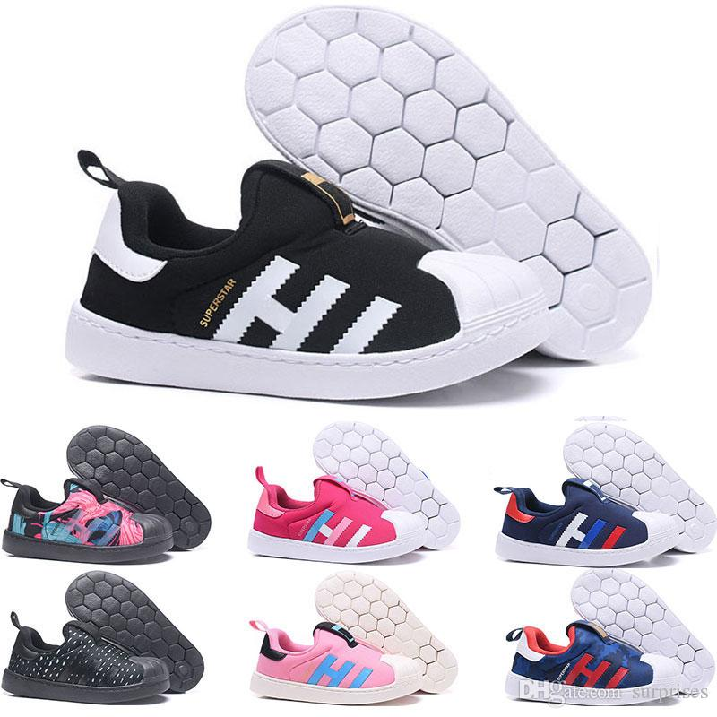 ee012d27f4 2019 Kids Designer Shoes Boys Girls Baby Shoes Sports Sneakers Fashion Cute  Comfortable Breathable Non Slip Casual Shoes Size Eur 22 35 Loafers For Men  Red ...