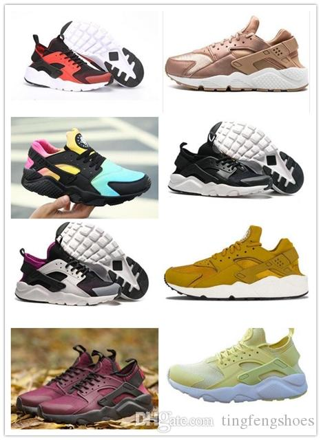 98da2fd3841d Cheap 2019 New Colors Huaraches 4 IV Casual Shoes For Men Women Top Quality  Huarache Run Ultra Breathable Mesh Cushion Sneakers Eur 36 45 Barefoot  Running ...